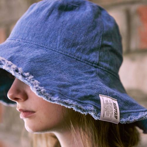 [슬리피슬립]SLEEPYSLIP - [unisex]REVERSIBLE DENIM BUCKET HAT 양면버킷햇