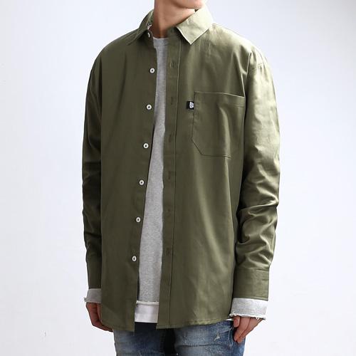 [쟈니웨스트] JHONNYWEST - Cottony FW Shirts (Khaki) 긴팔셔츠 남방