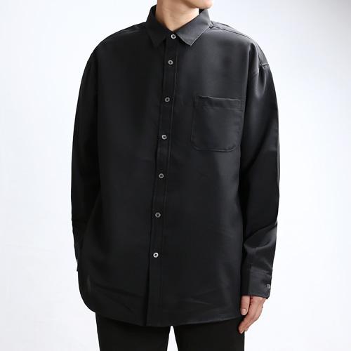 [쟈니웨스트] JHONNYWEST - Span Tex Basic Shirts (Black) 긴팔셔츠 남방