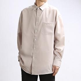 [쟈니웨스트] JHONNYWEST - Span Tex Basic Shirts (Beige) 긴팔셔츠 남방
