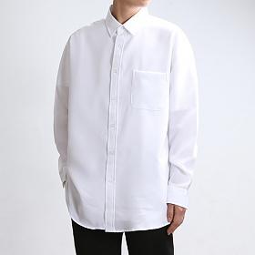 [쟈니웨스트] JHONNYWEST - Span Tex Basic Shirts (White) 긴팔셔츠 남방
