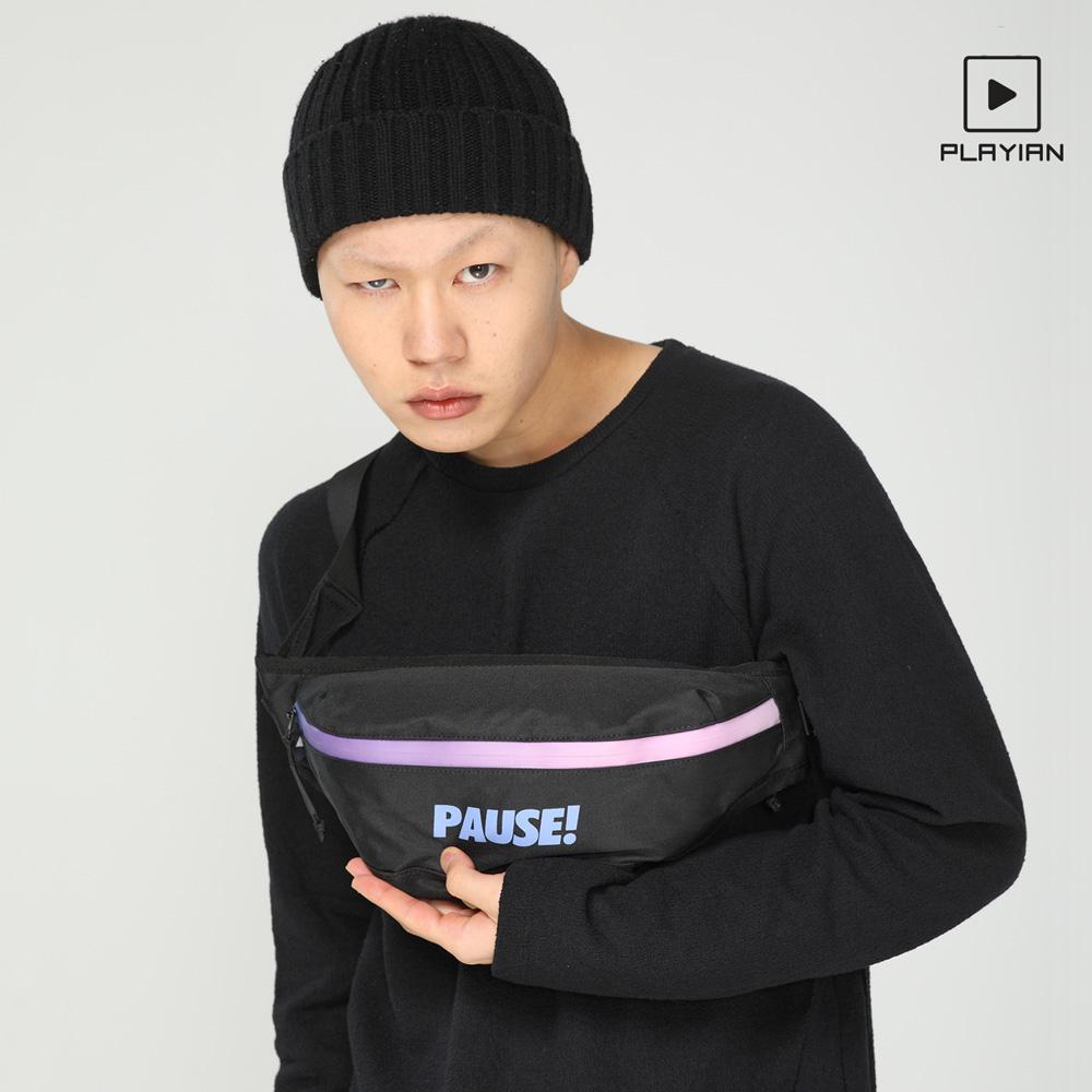 플레이언 - Pause waist bag_퍼즈 웨이스트백(EW05UBLK)