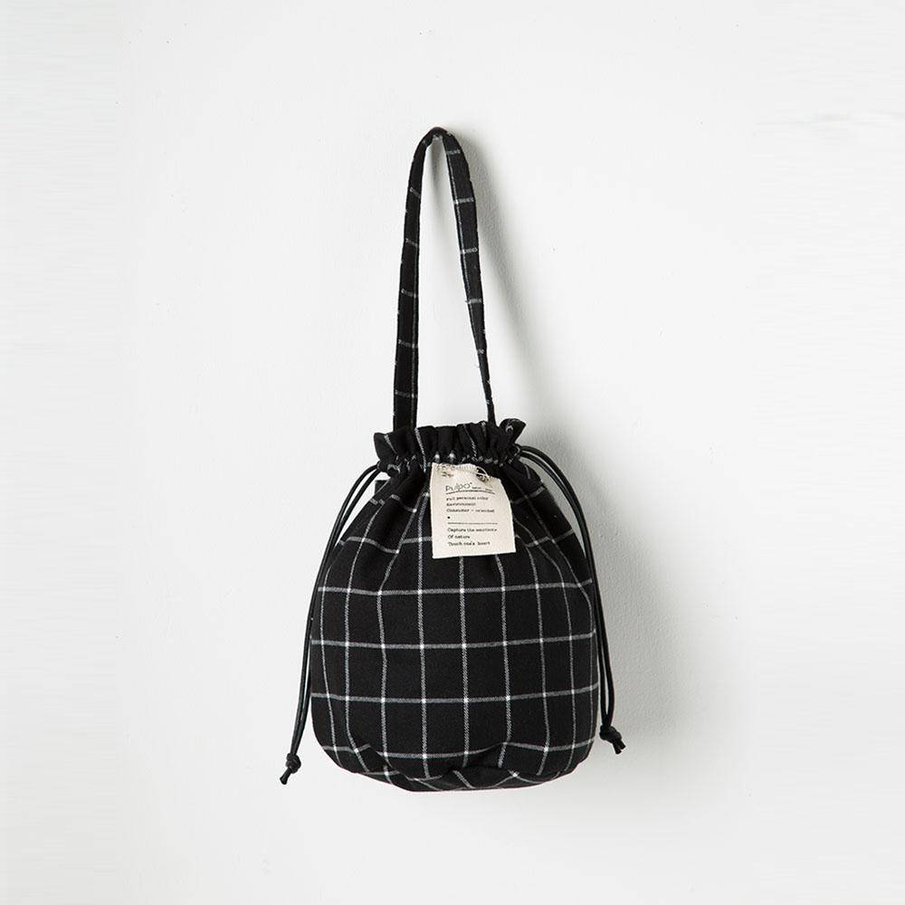 [풀포] Strap 버킷백 (Black Check) - P005_BC