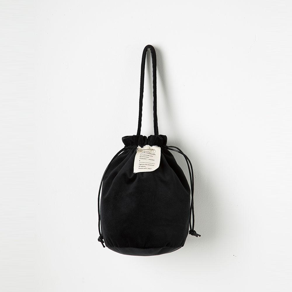 [풀포] Strap 버킷백 (Black) - P005B_BK