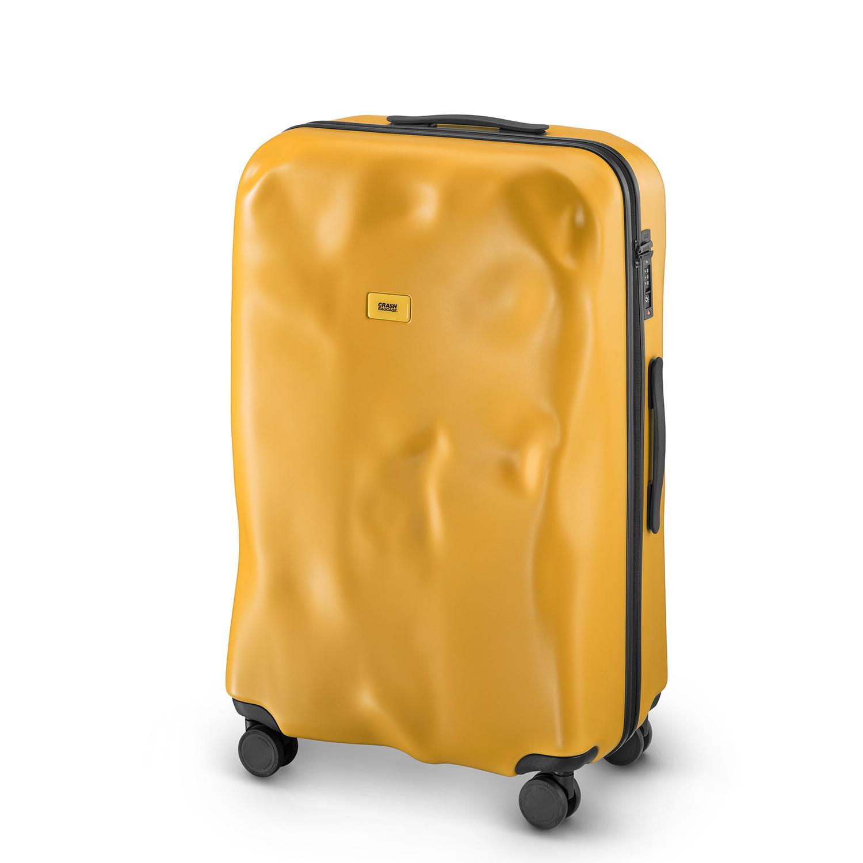 [크래쉬배기지] 아이콘 31인치 화물용 여행용 캐리어 (옐로우) 하드캐리어