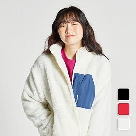 [언리미트]Unlimit - Mogle Jacket (U00DTJK12) 모글자켓 보아털자켓 후리스 플리스 양털 자켓 집업