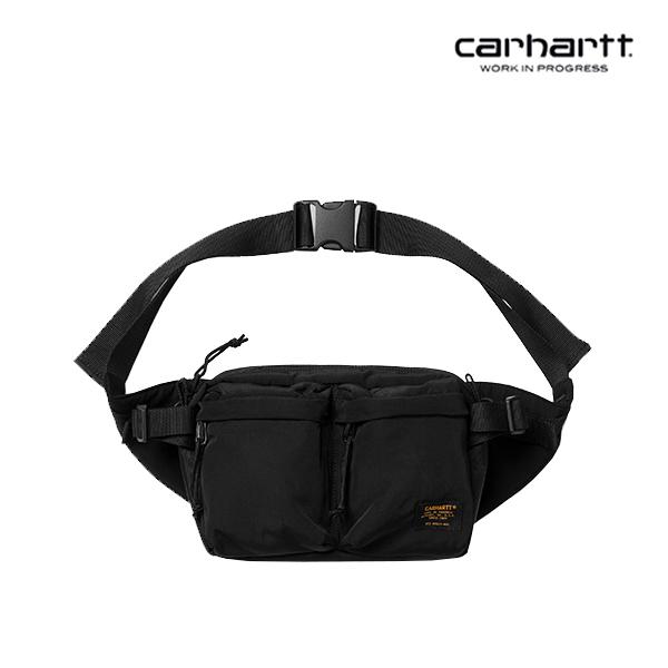[칼하트WIP] CARHARTT WIP - Military Hip Bag (Black / Black) 밀리터리 힙색 웨이스트백 가방