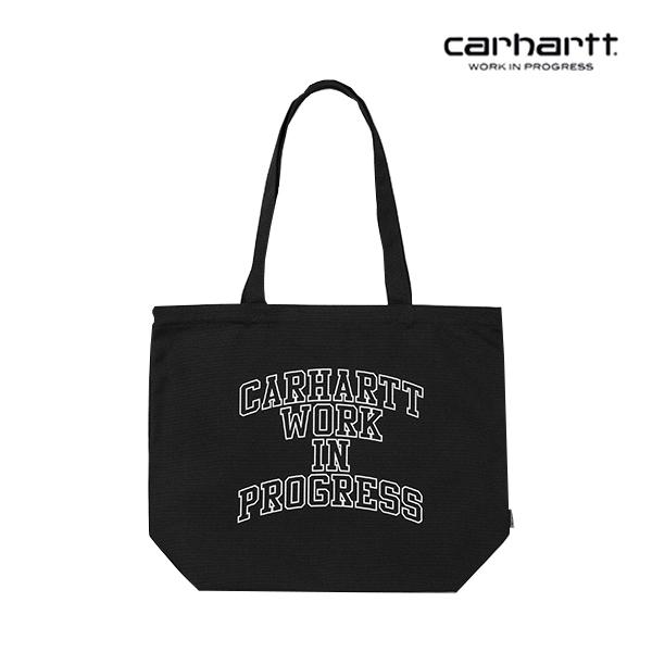 [칼하트WIP] CARHARTT WIP - WIP Division Tote Small (Black / White) 코튼 캔버스 에코백 토트백 숄더백