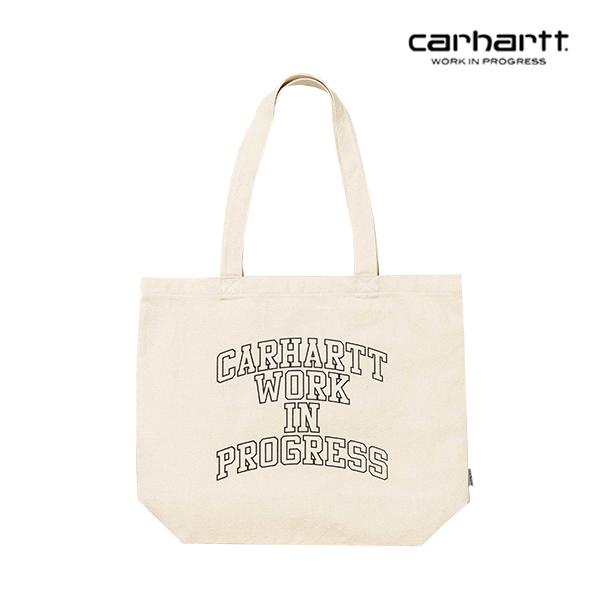 [칼하트WIP] CARHARTT WIP - WIP Division Tote Small (Ecru / Black) 코튼 캔버스 에코백 토트백 숄더백