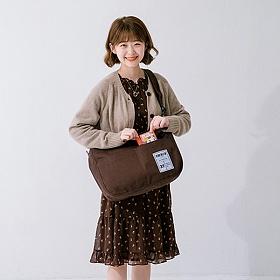 [르마인]LE MINE - 미들 로고 메신저백(브라운) 크로스백