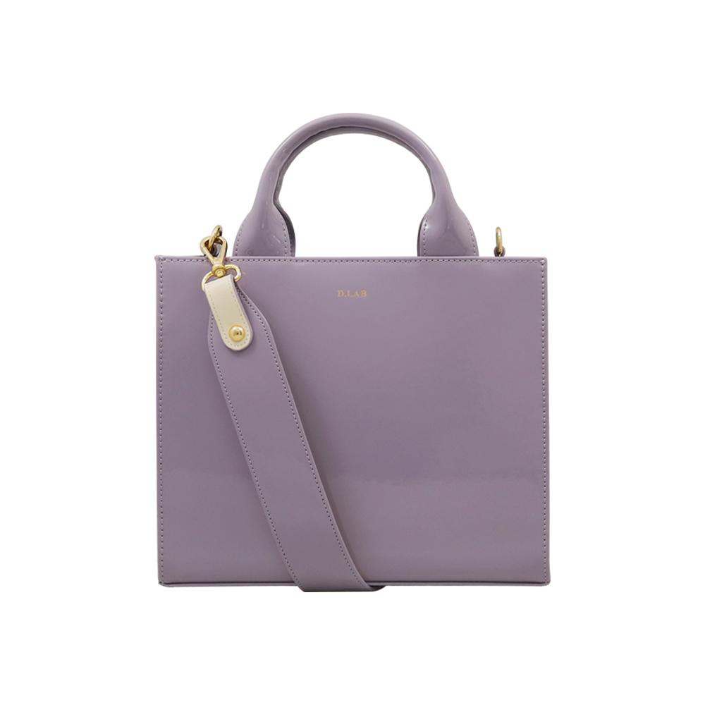 [디랩] D.LAB Candy Bag - Violet (카드지갑SET) 에나멜 토트백 숄더백