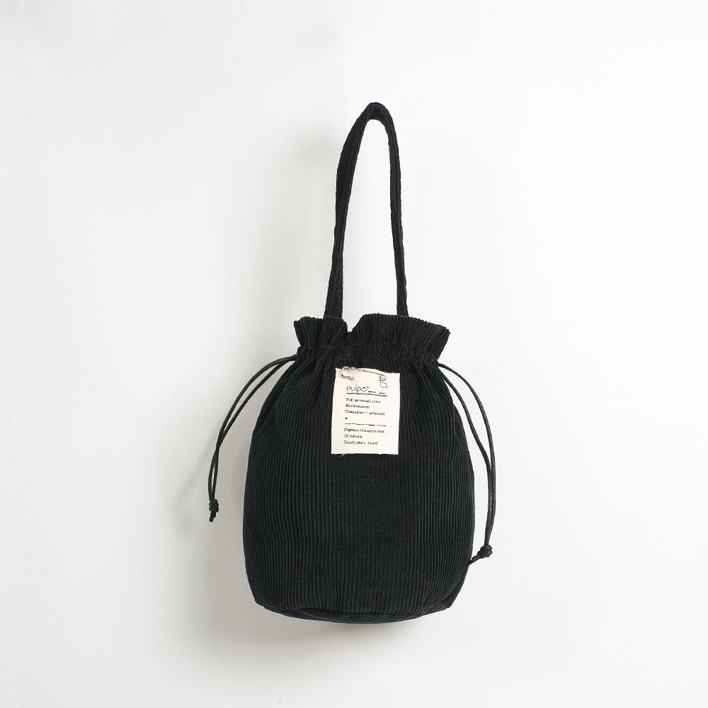 [풀포] Strap 버킷백 (Black) - P005B_BL