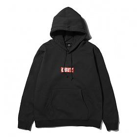 [오베이]OBEY - BAR LOGO HOOD (BLACK) 오베이 박스로고 후드티 후드