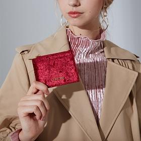 라페스틴 - Ineprouve Wallet - W180304LF 여성 벨벳 카드지갑