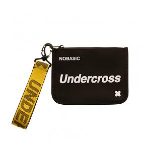 [언더크로스]UNDERCROSS 핸드 스트랩 파우치 PU 블랙