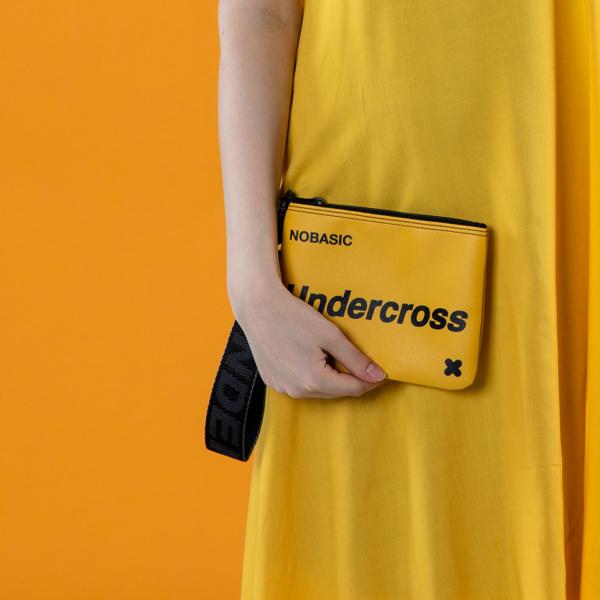 [언더크로스]UNDERCROSS 핸드 스트랩 파우치 옐로우