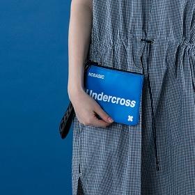 [언더크로스]UNDERCROSS 핸드 스트랩 파우치 블루