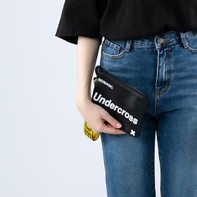 [언더크로스]UNDERCROSS 핸드 스트랩 파우치 블랙