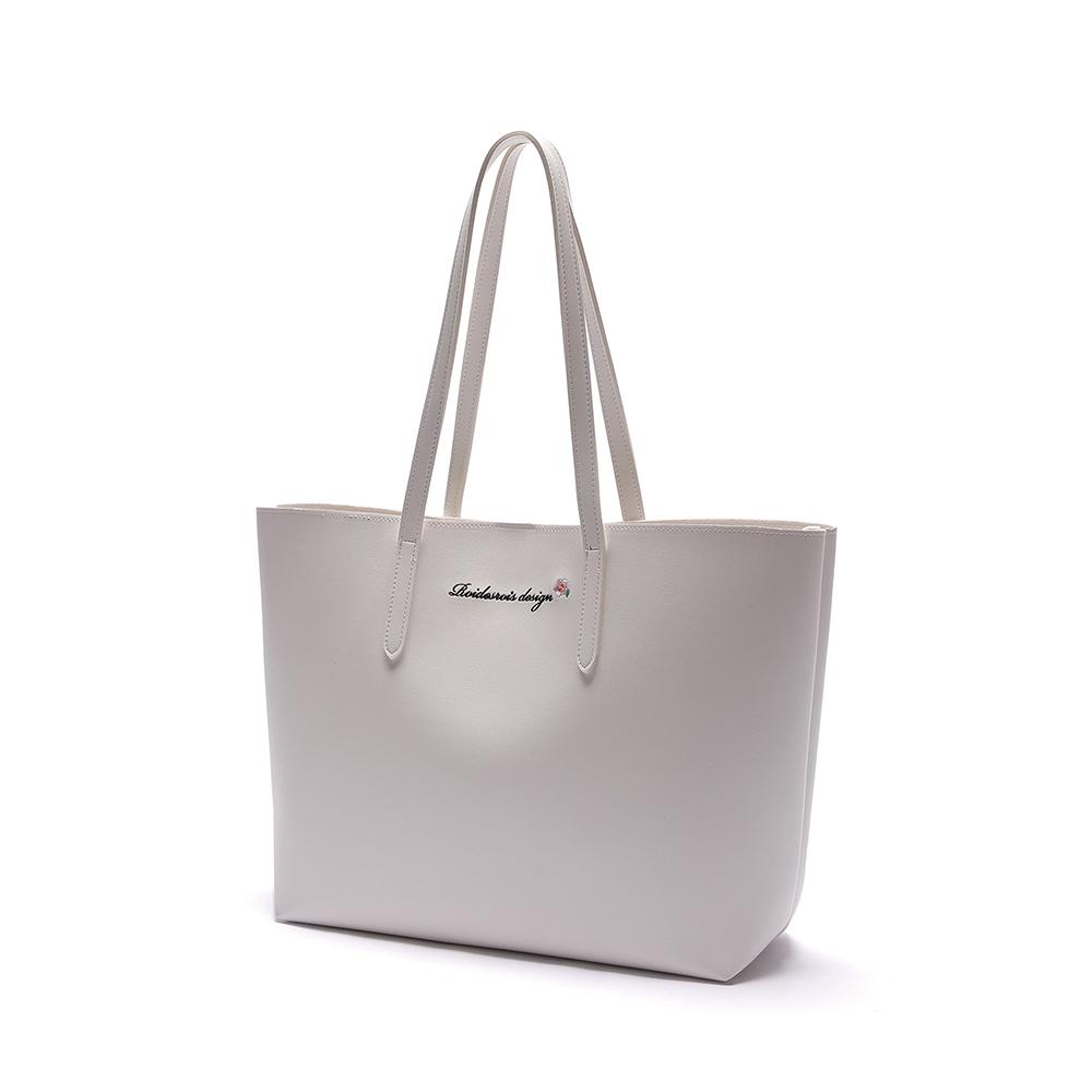 [로아드로아]ROIDESROIS - MUGUNGHWA SHOPPER BAG (WHITE) 무궁화 쇼퍼백 토트백 숄더백