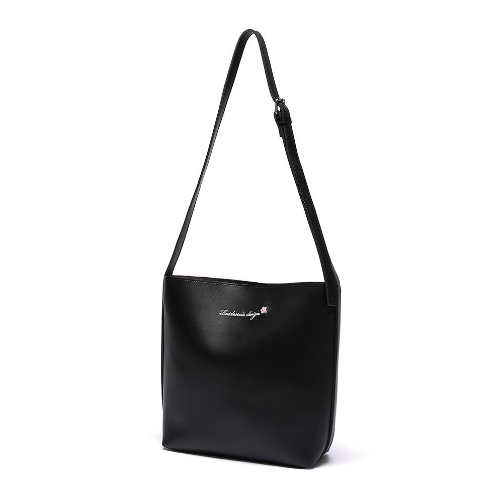 [로아드로아] MUGUNGHWA CROSS BAG (BLACK) 무궁화 크로스백 숄더백