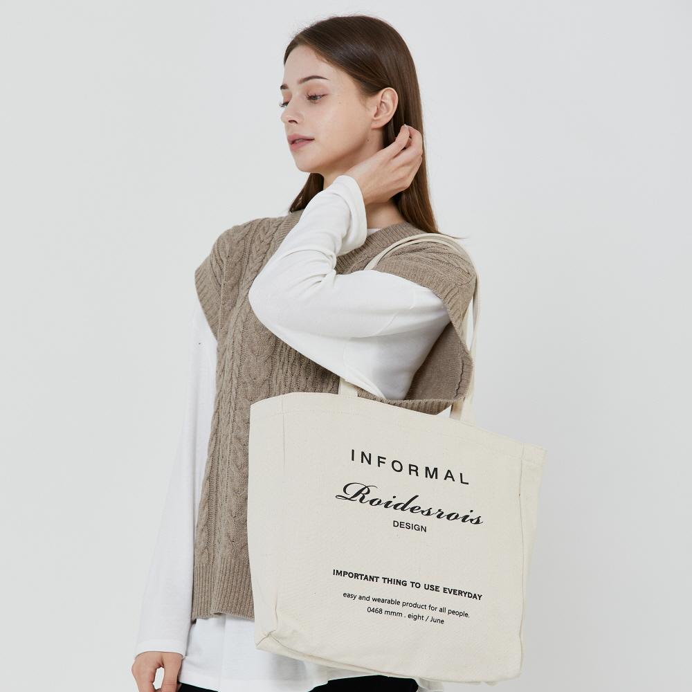 [로아드로아]ROIDESROIS - INFORMAL SHOULDER BAG (IVORY) 숄더백 에코백