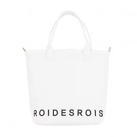 [로아드로아]ROIDESROIS - GOTHIC TYPE SHOULDER CROSS BAG (WHITE) 크로스백 숄더백 에코백