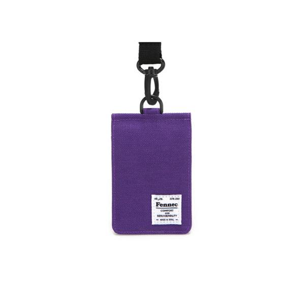 [페넥]FENNEC C&S CARD POCKET - PURPLE 목걸이 카드지갑