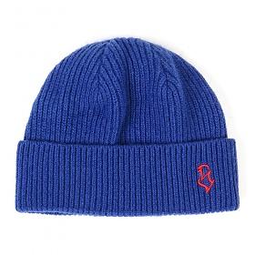 STIGMA - S - LOGO WOOL SHORT BEANIE BLUE 비니 모자