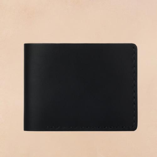 [테리우드] 손바느질 스탠다드 반지갑 (이태리 천연소가죽) - 블랙 ( Black )