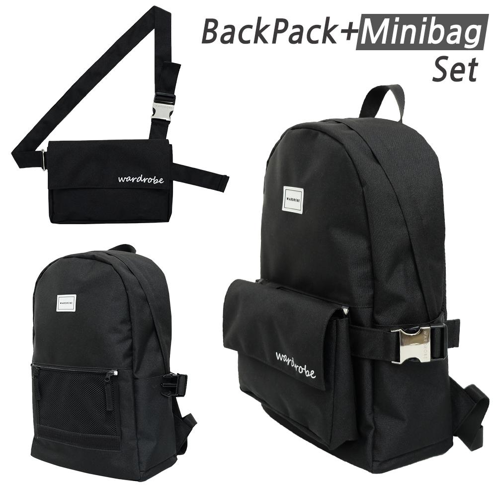 [와드로브]PLUS BACKPACK_BLACK 백팩 가방