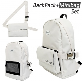 [와드로브]WARDROBE -PLUS BACKPACK_IVORY 백팩 가방