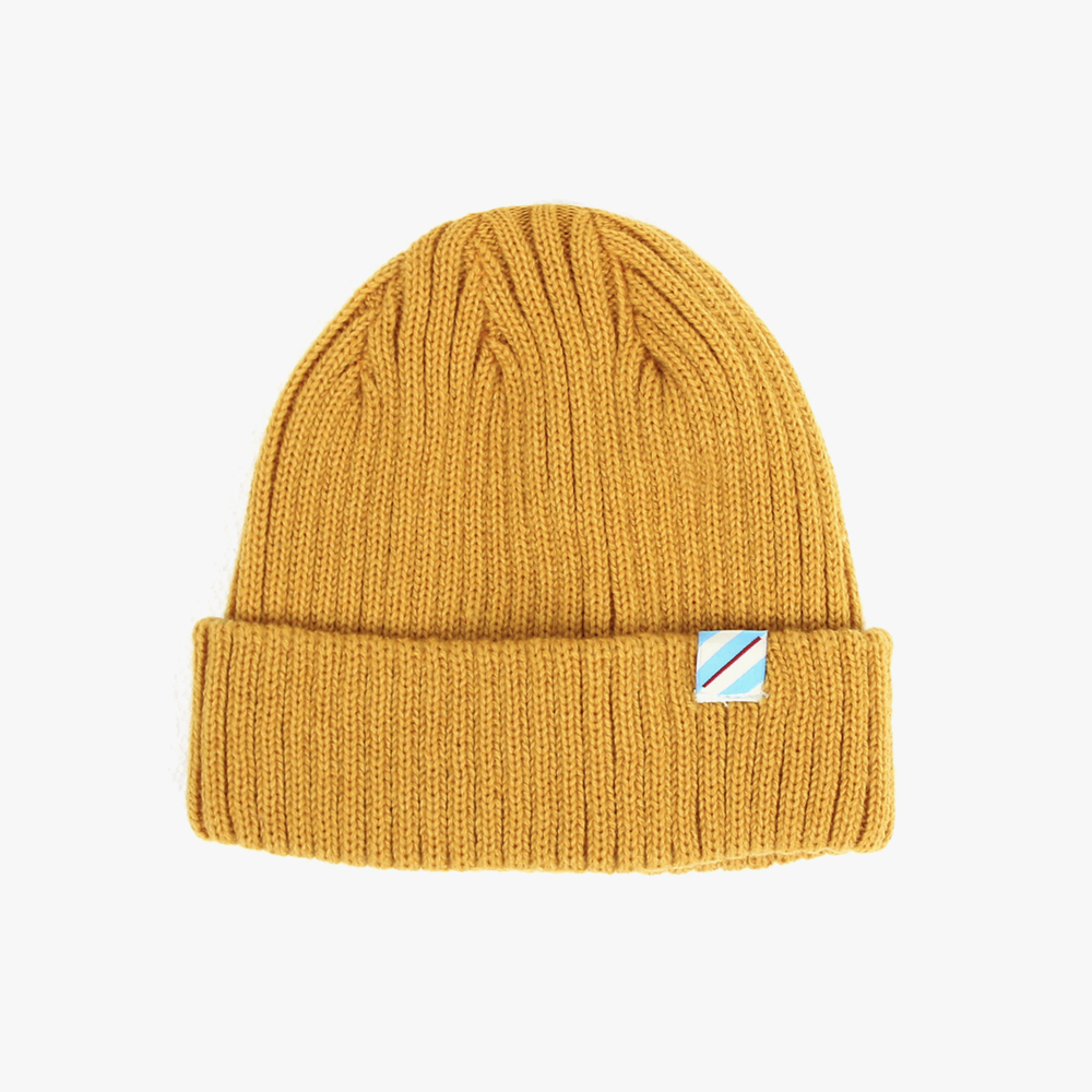 [피스메이커] PIECE MAKER - SLASH LOGO BEANIE (MUSTARD)비니