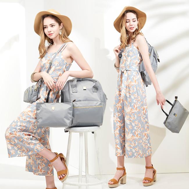 [엘리사벳] POSY 3종세트 여성백팩 기저귀가방 여행가방 (LX-02 GRAY)