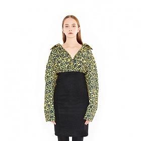 [참스] CHARMS Lip&Leopard Pattern Shirts YE 셔츠