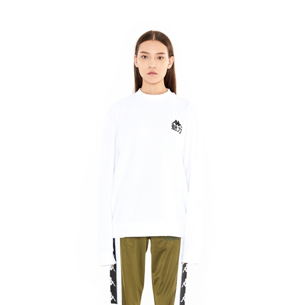 [참스] CHARMS x Kappa 魅力 Sweatshirts WH 맨투맨