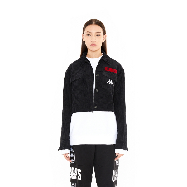[참스] CHARMS x Kappa Corduroy Jacket BK 코듀로이 자켓