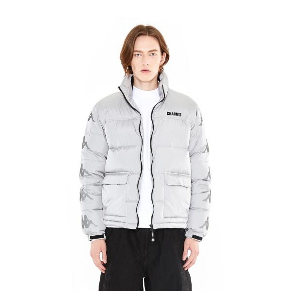 [참스] CHARMS x Kappa Logo Puffer jacket GY 숏패딩 점퍼
