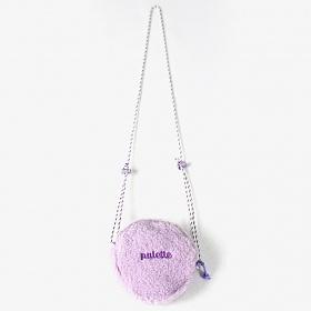 [피스메이커]FLEECE CIRCLE BAG (PURPLE) 양털 크로스백 템버린백