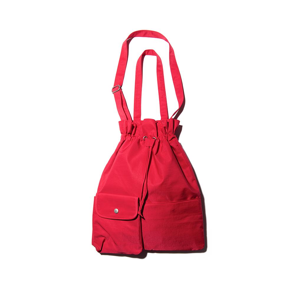 [디얼스]THE EARTH - POCKET BIND 2 WAY BAG - RED 버킷백 에코백 토트백 크로스백