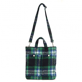[페넥] FENNEC C&S CHECK POCKET BAG - GREEN 크로스백
