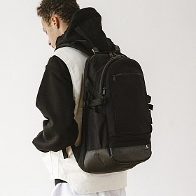 [디얼스]THE EARTH - WASHED CORDURA 28L BACKPACK - BLACK 코듀라 백팩