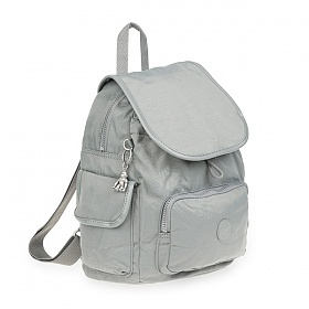 [키플링]KIPLING - CITY PACK S Small Backpack Smooth Grey 시티팩 스몰 백팩