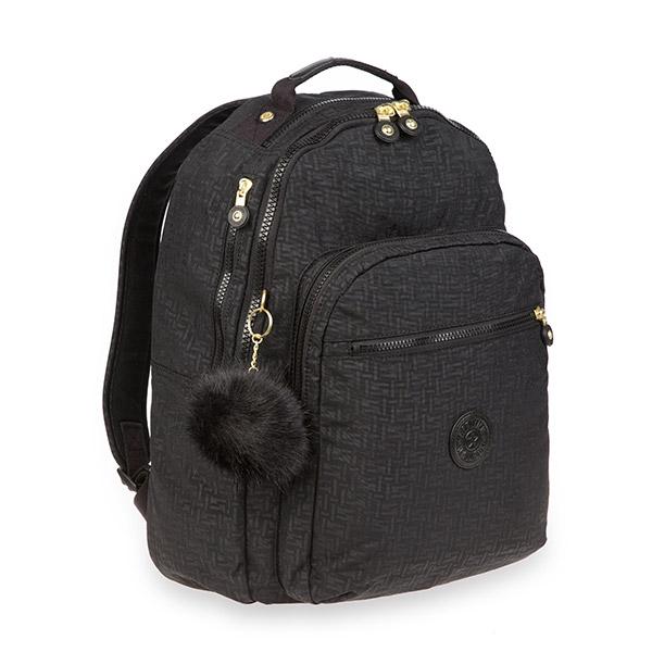 [키플링]KIPLING - CLAS SEOUL Large backpack Black Pylon Emb 백팩
