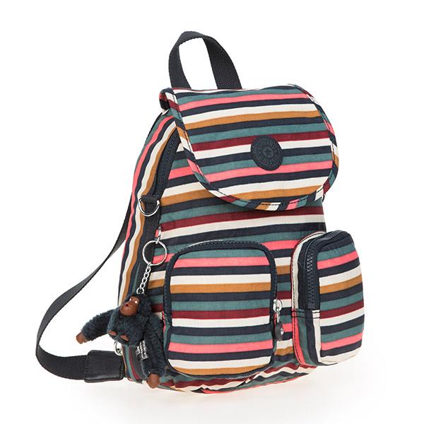 [키플링]KIPLING - FIREFLY UP Small backpack Multi Stripes 파이어플라이업 스몰 백팩