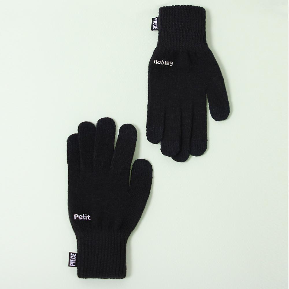 [피스메이커]PIECE MAKER - PETIT GARCON SMART GLOVES (BLACK) 스마트 장갑