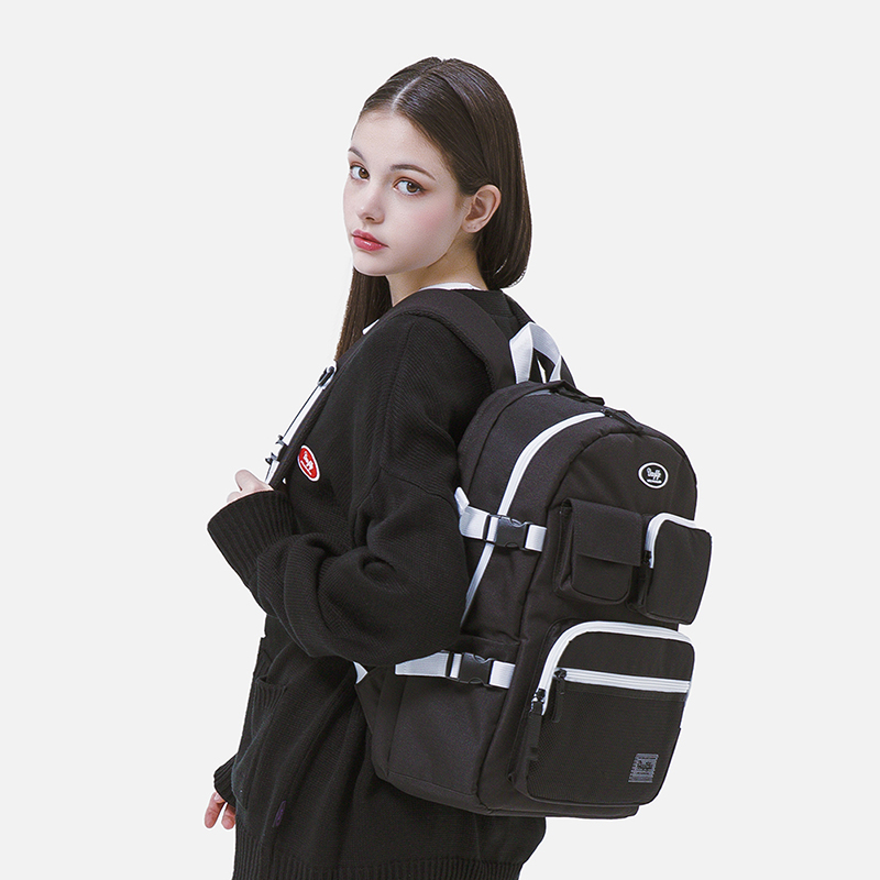 [파우치 증정][단독 판매][데이라이프]DAYLIFE 멀티 포켓 백팩 (블랙/화이트) 학생가방 신학기