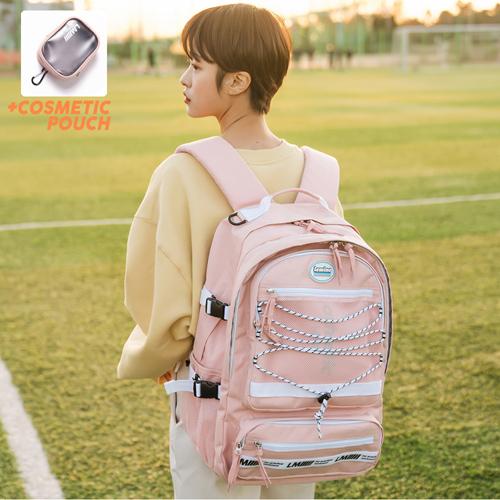 [르마인]LE MINE - LE42FPK 레트로 빅 백팩(핑크) 가방