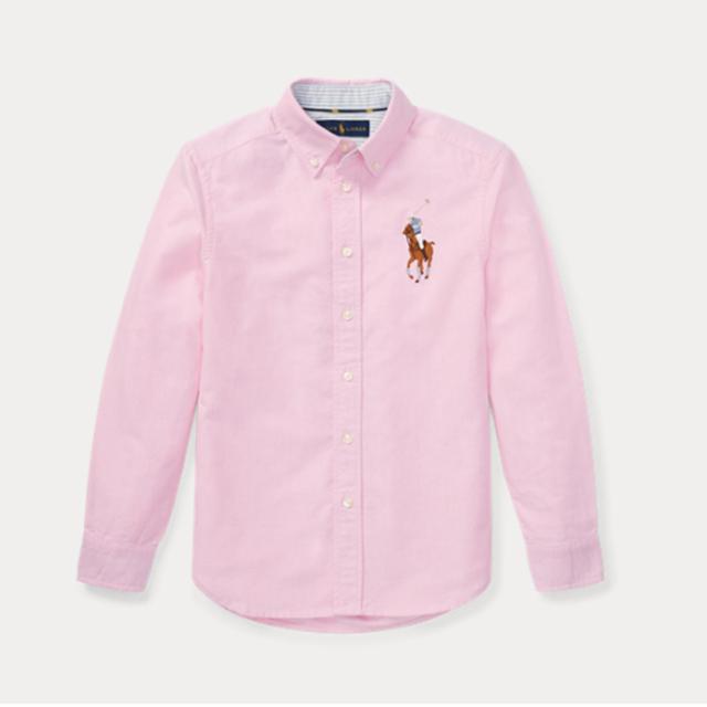 폴로랄프로렌 보이즈 옥스포드 긴팔 남방/셔츠 323690055 003 핑크(멀티빅포니) 정품 국내배송