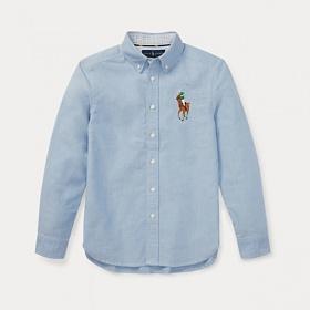 폴로랄프로렌 보이즈 옥스포드 긴팔 남방/셔츠 323690055 002 블루(멀티빅포니) 정품 국내배송