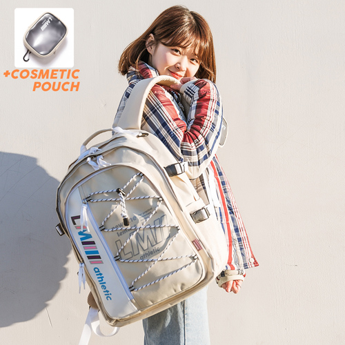 [르마인]LE MINE - LE41FIV 하프 포켓 백팩(아이보리) 가방